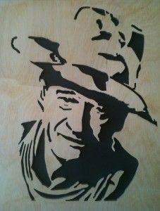 John Wayne Fretwork Portrait Cutting my dad did
