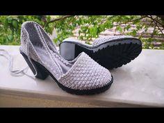 Topuklu örgü ayakkabı abiye model #tiğoyasi - YouTube Crochet Slipper Boots, Knit Shoes, Crochet Shoes, Crochet Slippers, Knit Crochet, Lehenga, Make Your Own Shoes, Diy Clothes And Shoes, Crochet Flower Tutorial
