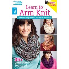 Learn to Arm Knit teaches the ultimate quick technique for creating fabulous scarves and cowls! Using super chunky yarn or multiple strands of thinner yarns, you can be finished in about a half-hour ± even with no experience in traditional knitting. Finger Crochet, Finger Knitting, Arm Knitting, Knitting Patterns, Knitting Scarves, Crochet Patterns, Crochet Bridesmaids Dresses, Infinity Scarf Tutorial, Super Chunky Yarn