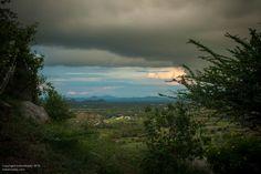 distant hills of Krishnagiri, Tamil Nadu, seen from near Kelamangala.