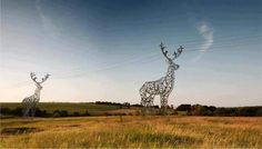 NICER and stronger !! Deer Shaped Electrical Towers in Russia - Creative Ideas - Google+