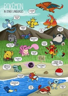 Pokémon names from around the world.