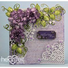 Heartfelt Creations - Purple Rose Hugs Project