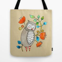 eli the owl Tote Bag