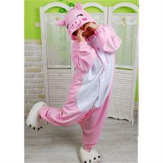 Kigurumi Adult Animal Onesies - Pink Pig - Shipping Cap Promotion- - TopBuy.com.au