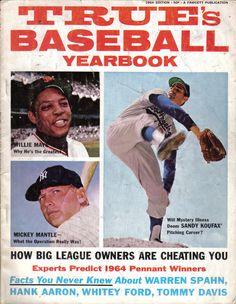1964, True's Baseball Yearbook, magazine, Sandy Koufax, Los Angeles Dodgers