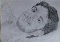 my pencil art on nice photo of my friend Sharafudheen Pkd