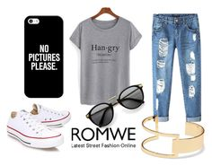 """""""Romwe"""" by olga05 ❤ liked on Polyvore featuring Chicnova Fashion, Sole Society, Casetify and Converse"""