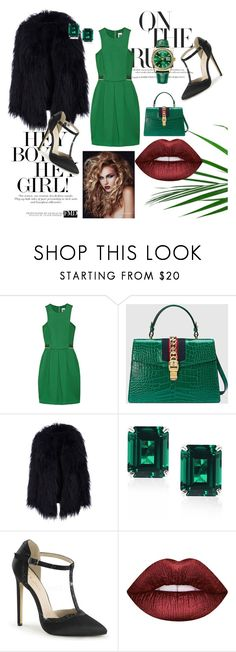 """""""Green color"""" by kristinas-l ❤ liked on Polyvore featuring M Missoni, Gucci, CARAT* London and Lime Crime"""