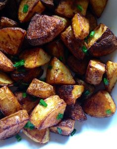 Smoky chipotle chive roasted potatoes - paleo and low FODMAP @paleorunmomma