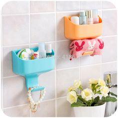 3M Multi PP + ABS Bath Storage Box Towel Hook Home Door Side Key Zakka Organizer New Brand