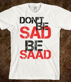 """Brandon Saad tee   As a frequent user of the word """"saaaad"""" and band wagon hawks fan I had to save this one"""
