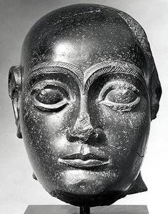 Head of King Gudea, Lagash ruler. Neo-Sumerian ca. 2090 B.C. Mesopotamia, probably from Girsu (modern Tello)