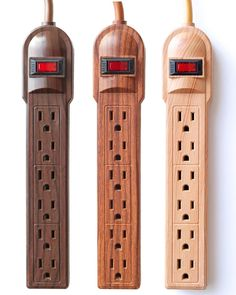 The Invisiplug is anoutlet for your faux-bois obsession. Available in dark oak, cherry, and light natural.