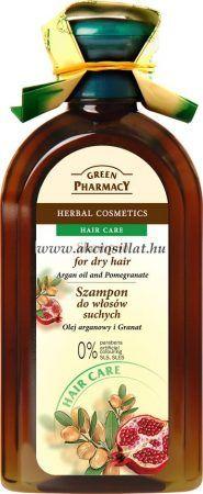 Green Pharmacy sampon száraz hajra argán olaj és gránátalma kivonattal 350ml