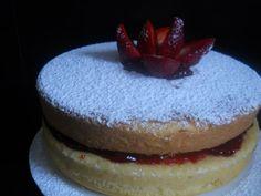 Torta maria Luisa con mermelada de moras casera