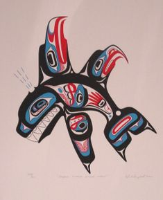 Title: Double Finned Killerwhale Artist: Lyle Campbell (Haida)