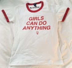 Girls Can Do Anything Ringer Tee © Design by by MXLoutfitters