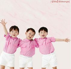 can't get enough of this triplets. Song Il Gook, Triplet Babies, Superman Kids, Man Se, Song Daehan, Song Triplets, My Bebe, Korean Babies, Korean Celebrities