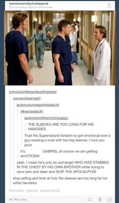 I love that Tumblr people love the Supernatural fandom but at the same time they don't want to upset them. We are crazy!