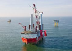 MPI Adventure installs the first offshore wind turbine on Sandbank