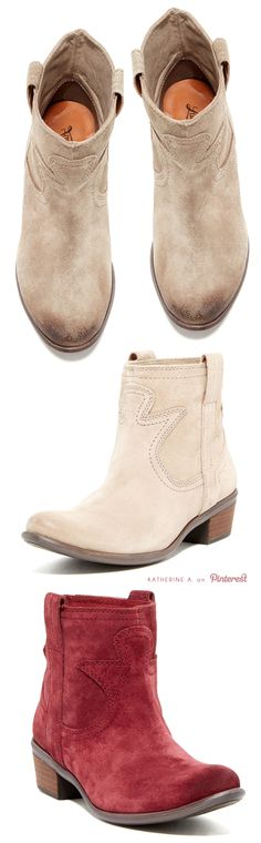Cute Western Inspired Booties by Lucky Brand...have 2 pair of these already, made from REAL boot makers! But no sueded...need...
