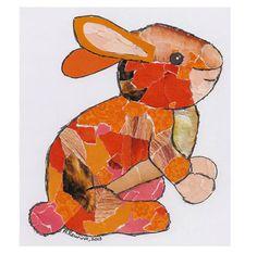Zelf dierencollage maken van papier | #DIY #konijn