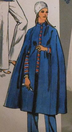 Vintage Midi Cape Sewing Pattern