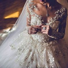 Ball Gown Wedding Dresses ❤ See more : http://bugelinlik.com/en/wedding-dresses/ball-gown/7