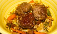 Asian Meatballs, 1 weight watcher point per meatball - easy to make and delicious