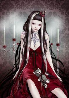 Home - Tattoo Spirit Art Geisha, Geisha Kunst, Fantasy Paintings, Fantasy Artwork, Gothic Art, Gothic Lolita, Estilo Dark, Fantasy Demon, Asian Artwork