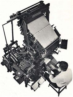 Linotype machine. Before the Linotype was invented, even the largest daily newpapers were limited to eight pages due to the high cost and slow pace of composition of type.