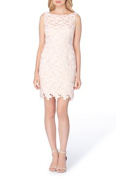 Main Image - Tahari Lace Sheath Dress (Regular & Petite)