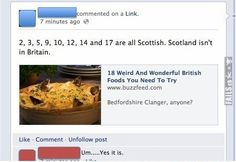 Geography FAIL Fail Pictures, Funny Pictures, Bedfordshire Clanger, Picture Fails, Weird And Wonderful, Funny Fails, Geography, Scotland, Food