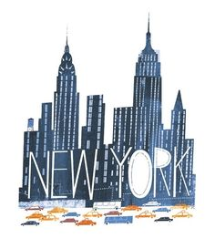 New York Illustration – City Illustration The Places Youll Go, Places To Visit, New York Illustration, Empire State Of Mind, Nyc Skyline, Alley Cat, New York Art, Concrete Jungle, Best Cities