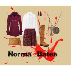 """Norma Bates ~ Bates Motel"" by karacalavera on Polyvore"