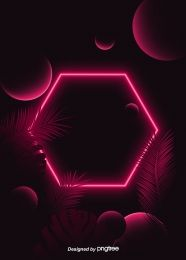 Geometric Shape Tropical Leaf Theme Red Neon Lighting Effect Background Geometric Decor, Geometric Background, Geometric Shapes, Party Background, Lights Background, Background Images, Matching Paint Colors, Red Images, Neon Design