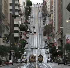 California Street, straight up. San Francisco.