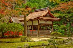 Sub-shrines of in the precincts of the Kamigamo Shrine (上賀茂神社) in Kyoto.