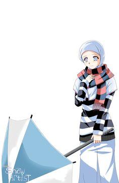 Muslim Anime by Hishnul on DeviantArt Islamic Cartoon, Hijab Cartoon, Vader Star Wars, People Illustration, Illustrations, Islamic Girl, Muslim Girls, Muslim Women, Anime Style