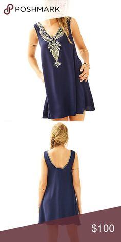 5fd9d30b6d1cd7 My Posh Picks · NWT Lilly Pulitzer Owen Trapeze Dress (True Navy) Brand  new with tags Lilly Pulitzer
