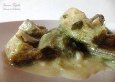 ALCACHOFAS AL LIMÓN. Ingredientes: 8 alcachofas grandes, 1 limón, 4 cucharadas soperas de aceite, 4 dientes de ajo, 2 ramas de perejil, 4 o 6 cucharadas de pan rallado, agua, sal y pimienta.