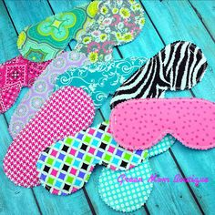 Set of 6 Beauty Sleep Masks Custom Made for by GreenMomBoutique