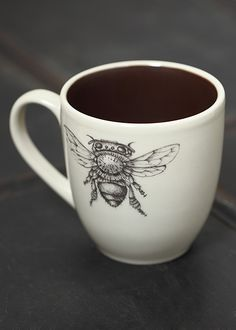 Oh!  For a cup of tea with honey in this cup!