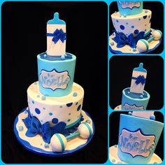 Baby boy shower cake | Baby showers are so fun to cake for! | Ashley | Flickr