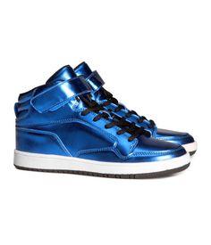 groovy shiny blue high-tops