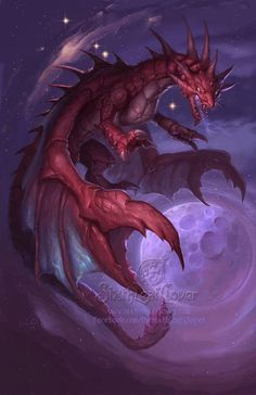 Dragon Art by Sixthleafclover-Cancer-2013