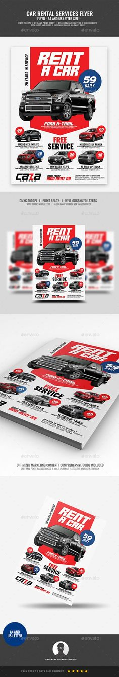 a4 flyer, advertisement, automobile, car, car for hire, car for rent, car lease, car rent, car services, car shop, for hire, for rent, handout, lease, mechanic, passenger, rent, rent a car, rental, rental services, service rental, van for hire, vehicle Car Rental Company Flyer   Boost your company's sales and attract new customers! This Car Rental Company Flyer Design Template have been developed to boost your Ultimate Marketing strategy and brand/product awareness, Perfect for large and…
