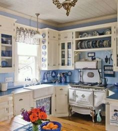 Victorian Farmhouse Kitchen Chairs. Room With Victorian Wallpaper ...