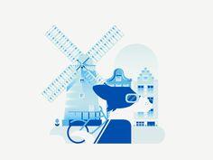 Dogs of The World - Amsterdam by Elen Winata #Design Popular #Dribbble #shots